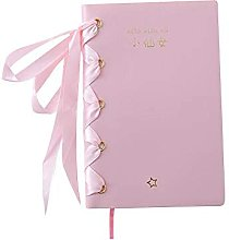 Bloc de notas con correas de lazo Cuaderno rosa