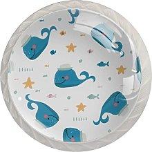 Blue Dolphin Hat Yellow Star FishRound - Tirador