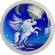Blue Star Unicorn - Pomos de gabinete con diseño