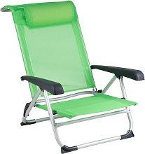 Bo-Camp Silla de playa aluminio verde - Verde