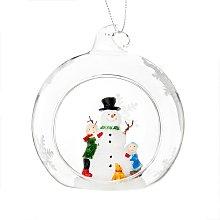 Bola de Navidad de cristal con decoración de