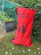 Bolsa de basura Raxsax, rosso