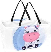 Bolsa De La Compra Adorable Vaca Cesta De La