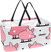 Bolsa De La Compra Cerdo Rosa De Dibujos Animados