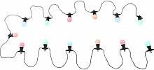 bombilla de plástico negro luz LED al aire libre