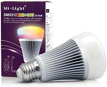 Bombilla led E27, 9W, DMX512, RGB+CCT, RGB +