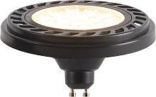 Bombilla LED GU10 regulable AR111 negro 9W 800lm