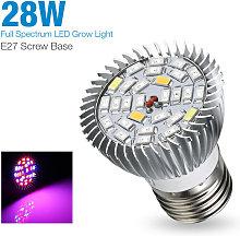 Bombilla LED para crecimiento de plantas 28W E27,