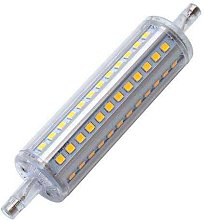 Bombilla LED R7S, 10W, 72xSMD2835, 360º, 118mm,