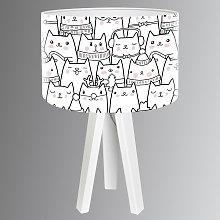Bonita lámpara de mesa infantil Cats