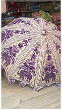 Bonitas sombrillas decorativas de jardín hechas a