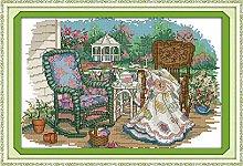 Bordado artesanías de costura en la silla de