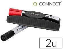 Borrador q-connect magnetico con rotulador rojo y
