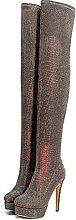 Botas de mujer sobre la rodilla, 14cm Botas altas