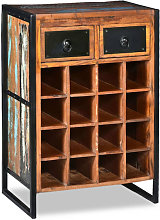 Botellero para 16 botellas de madera maciza