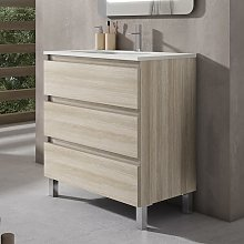 BOX Mueble+Lavabo 3C Crudo - Medida: 60 CMS -