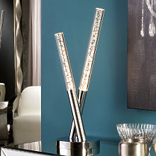 Brillante lámpara de sobremesa LED Cosmo