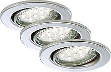 Briloner Leuchten foco GU10, 3 W, chrom