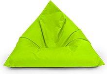 BuBiBag Puf triangular para interior y exterior,