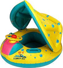 Buoy asiento inflable parasol para bebé niño