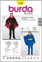 Burda Patrón 2791 Carnaval Bat-Boy, Vampiro