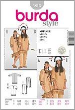 Burda Patrón 5815 Carnaval Disfraz de Indio,