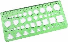 Buty 0-20cm círculos Verdes de plástico