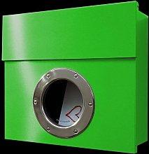 Buzón de diseño Letterman I, verde