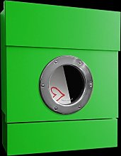 Buzón de pared Letterman II, caja prensa, verde
