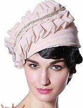 BXGZXYQ Sombrero de Gasa Rosa para Dama en los