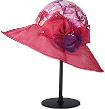 BXGZXYQ Sombrero de Seda de Primavera y Verano