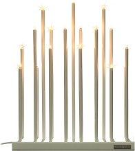By Rydéns Elfugan candelabro, dimmer, blanco