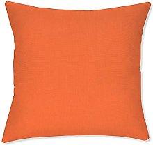 BYRON HOYLE Funda de almohada de color naranja