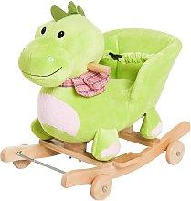 Caballo balancín de dinosaurio para bebé Homcom
