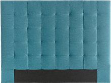 Cabecero capitoné en tejido azul petróleo 140 cm