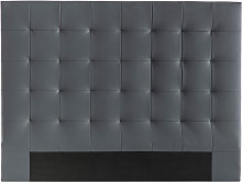 Cabecero capitoné gris oscuro 160 cm HALCIONA