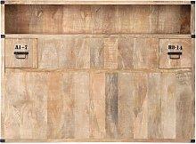 Cabecero de mango macizo con compartimentos de