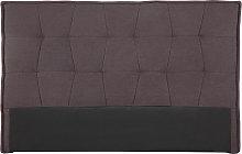 Cabecero tejido gris oscuro 170 cm SUKA