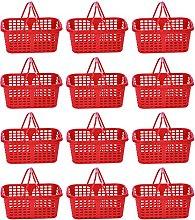 Cabilock 20 cestas de plástico para frutas con