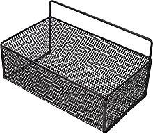 Cabilock Cesta de alambre de metal para montar en