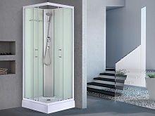 Cabina de ducha angular HERA de cristal templado -