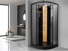 Cabina de ducha KYOU negra - lluvia tropical y