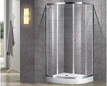 Cabina de ducha rinconera simple MILOA - 80 x 80 cm