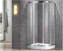 Cabina de ducha rinconera simple MILOA - 80 x 80cm