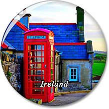 Cabina de teléfono roja de Irlanda Imán de