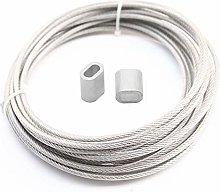 Cable Acero Trenzado,Cable De Alambre 5 Meter