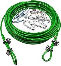 Cable de cable flexible de acero verde de 3 a 20 m