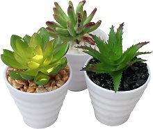 Cactus artificial para decoración con maceta
