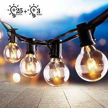 Cadena de luces para exteriores e interiores,