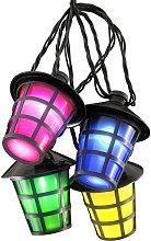 Cadena luces exterior Farolillo 20 LEDs multicolor